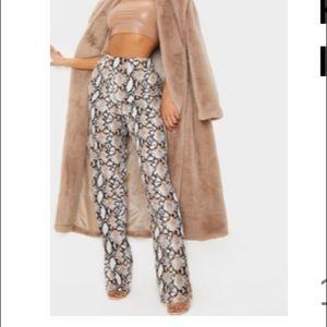 🌸Snake print dress pants